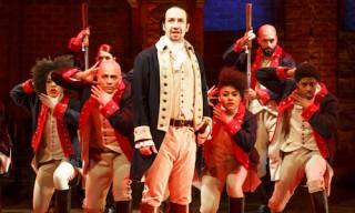 Lin-Manuel Miranda as Alexander Hamilton in Hamilton The Musical.