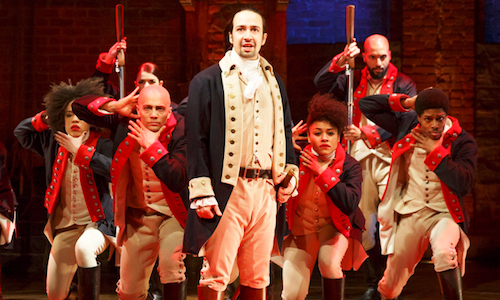 Lin-Manuel Miranda as Alexander Hamilton in Hamilton The Musical.