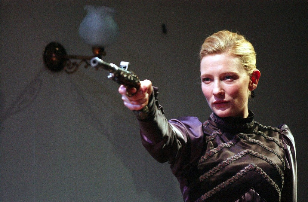 Cate Blanchett performing a scene from Hedda Gabler at The Sydney Theatre Company.