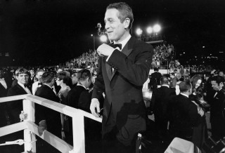 Actor Paul Newman arrives at the 1967 Annual Academy Awards