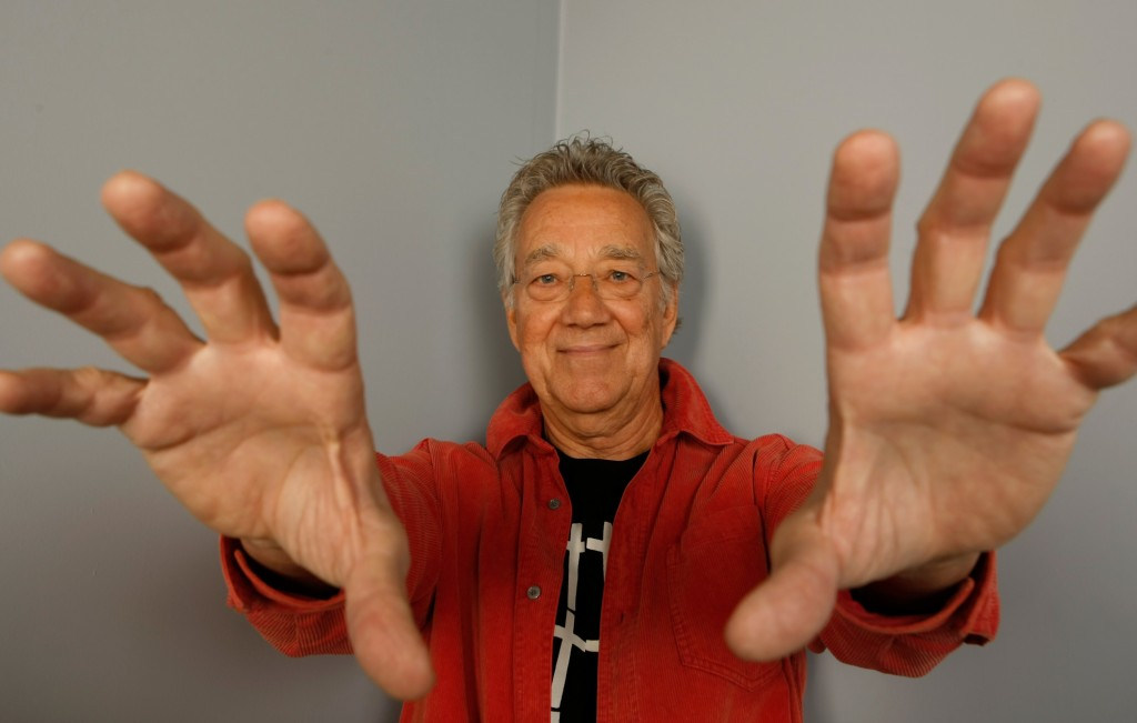 Musican Ray Manzarek poses for a portrait at the Gibson Guitar Lounge during the Sundance Film Festival in Park City, Utah, on Saturday 17 January, 2009. (AP Photo/Mark Mainz)