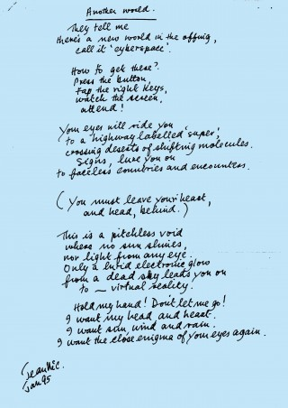 Jean McCurd's poem Another World