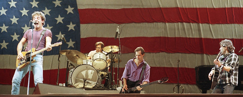Bruce Springsteen performing in 1985