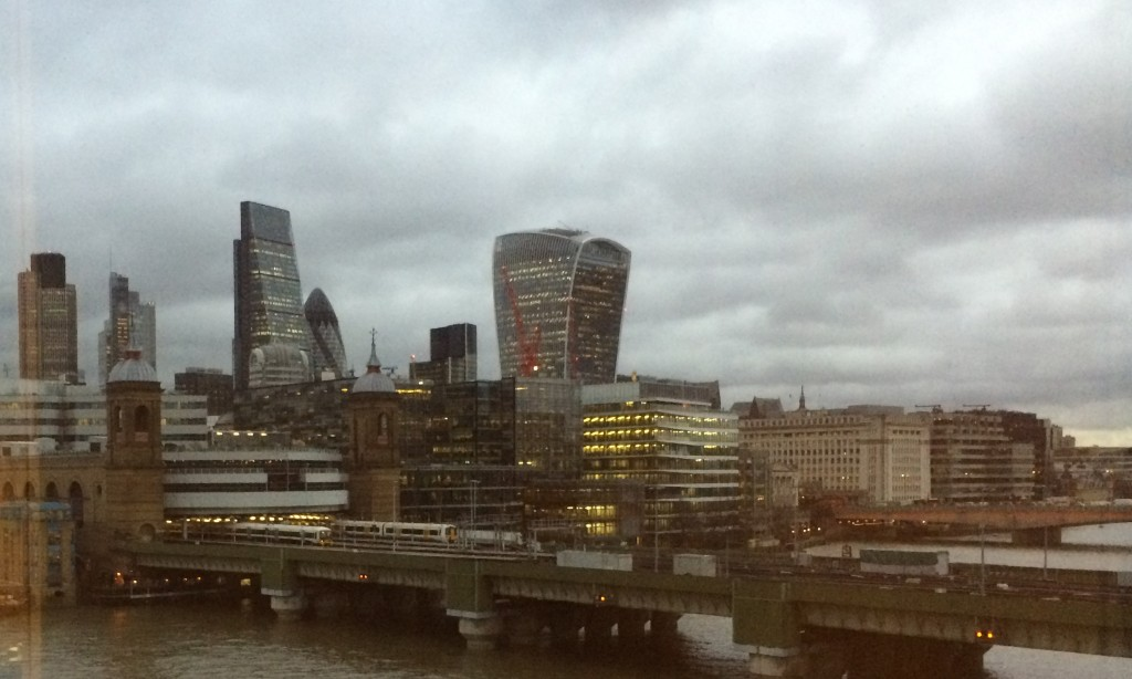 The City of London, as viewed from the FT's HQ