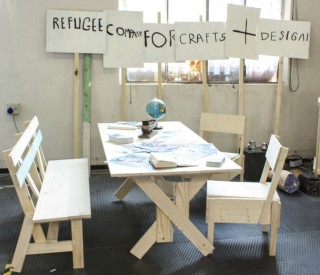 Table and chairs made at the Cucula workshop in Berlin