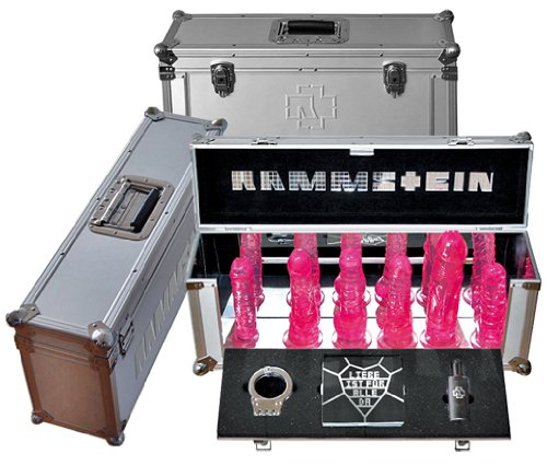 A presentation pack of Rammstein sex toys