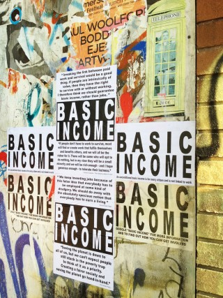 basic income sign
