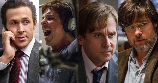 Ryan Gosling, Christian Bale, Steve Carrell and Brad Pitt in The Big Short