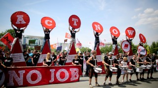 Demonstration against youth unemployment in Europe