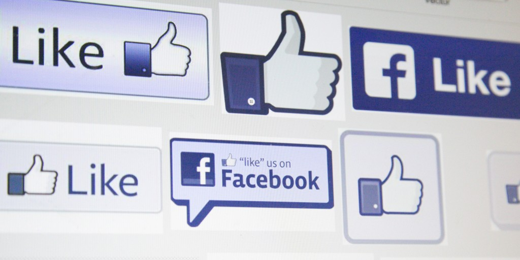 Facebook poster with 'thumbs up' icon