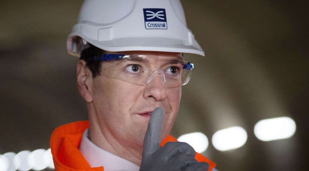 George Osborne visits the Crossrail construction site in London