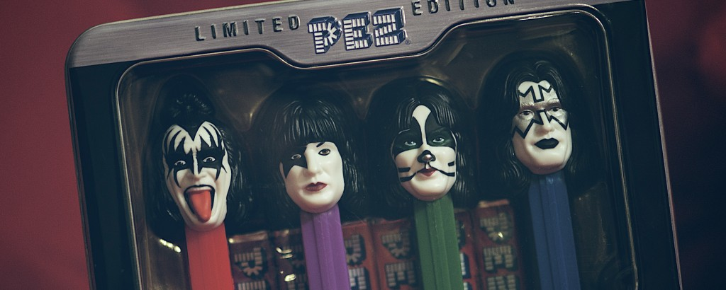 A limited edition box of Kiss-themed Pez dispensers