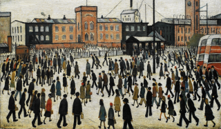 Going To Work by LS Lowry