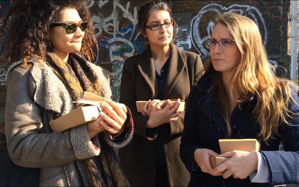 Sarah, Somaya and Jess
