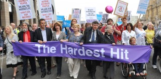 The Hardest Hit campaign march in London