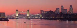 London Sunset over the Thames River