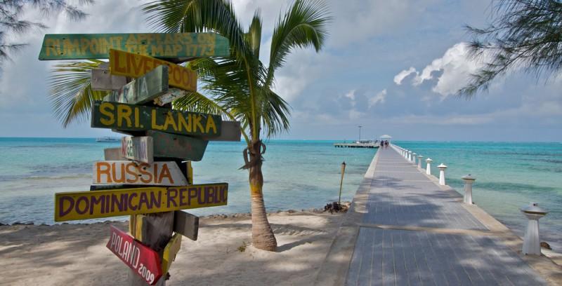 A beach on the Cayman Islands