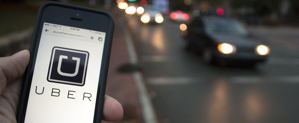 Uber app open on a mobile phone