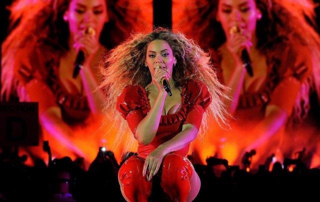 Beyonce performs during the Formation World Tour