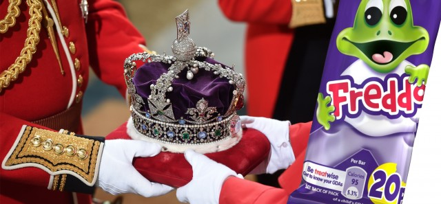 Queens Crown at State Opening of Parliament and a Freddo