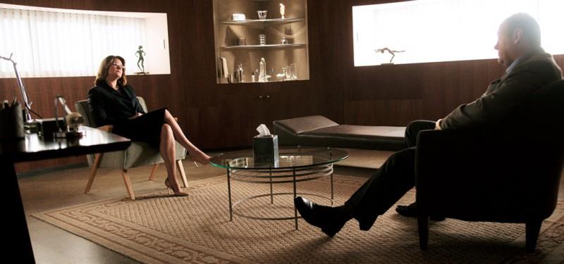 Scene from The Sopranos in which Tony Soprano talks to his therapist Jennifer Melfi