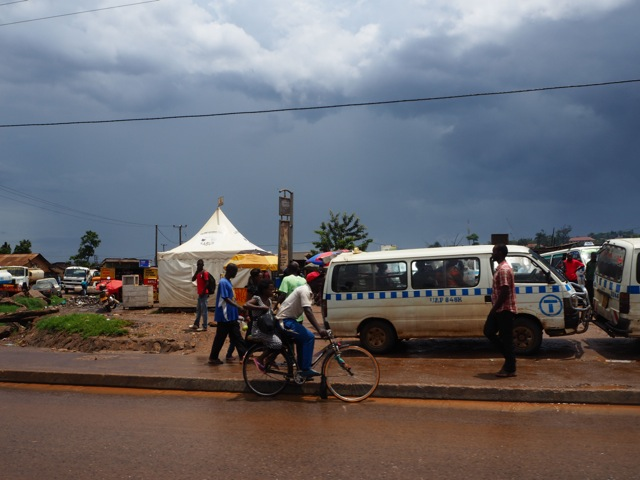 A view from the roadside in Kampala