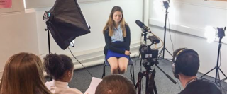 One of the ThinkForward team being interviewed about the economy