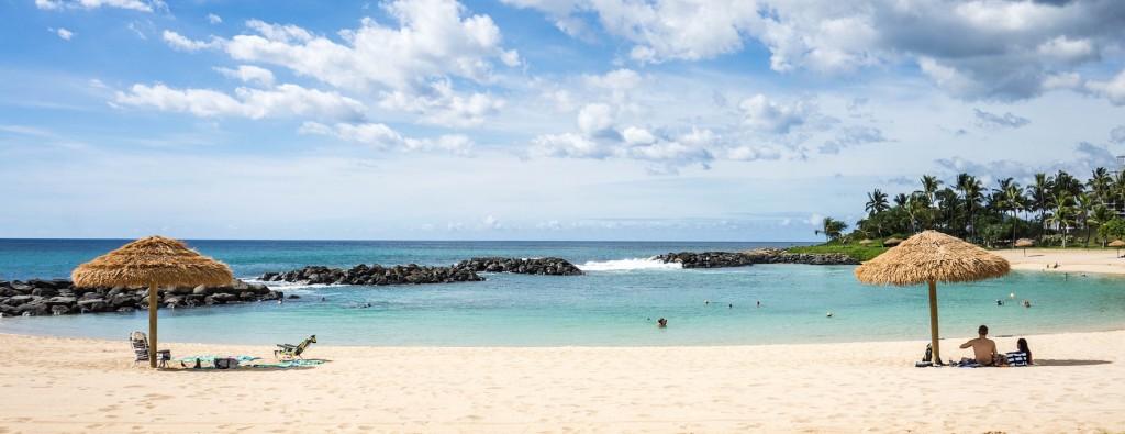 A beach in Hawaii