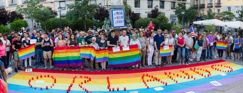 Concentration Against Orlando Attacks - Madrid