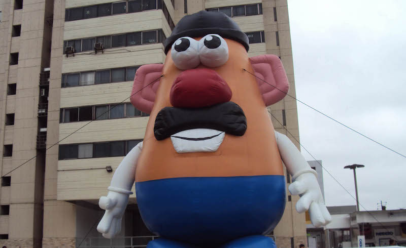 A giant Mr Potato Head