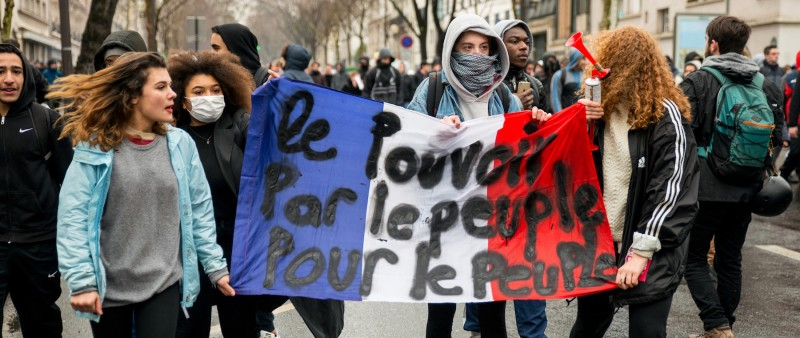Protest over labor reforms in France