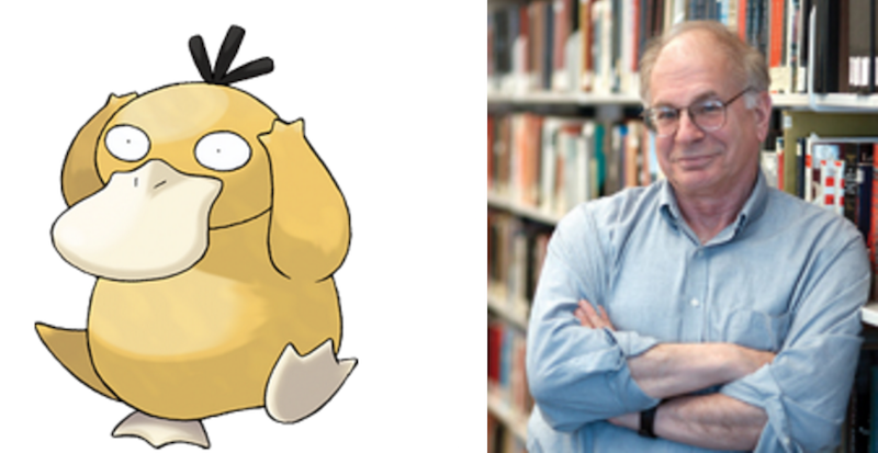 Psyduck and Daniel Kahneman