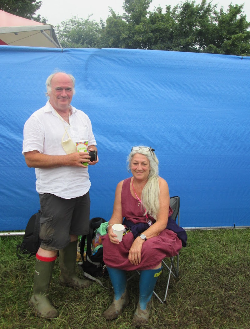 John and Lynn at Glastonbury