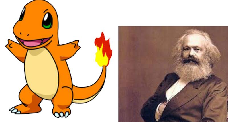 Charmander and Karl Marx
