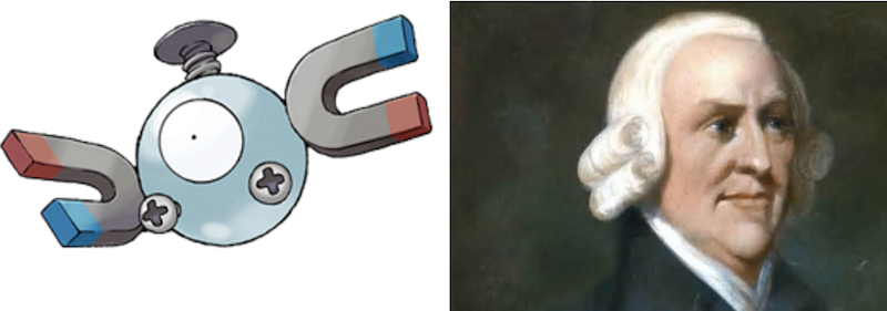 Magnemite and Adam Smith