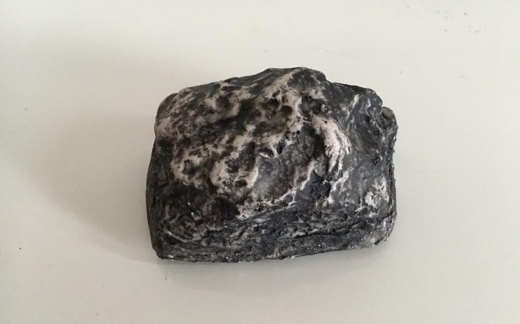 A plastic rock