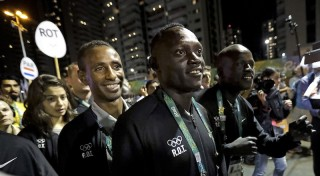 Members of the Refugee Olympic Team