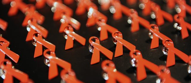 A collection of AIDS ribbons