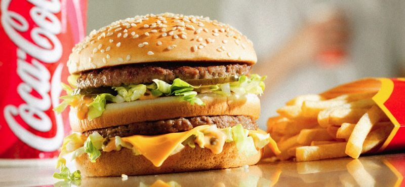A Big Mac with fries and a coke