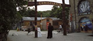 The entrance to Christiania in Copenhagen