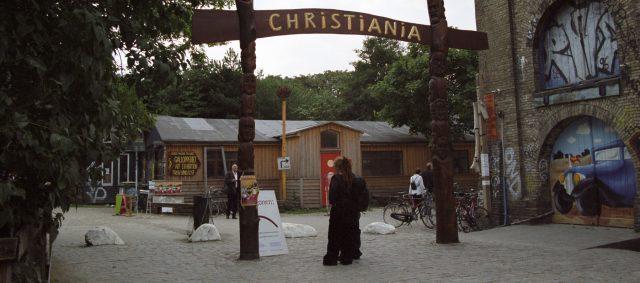 The entrance to Christiania in Copenhagen