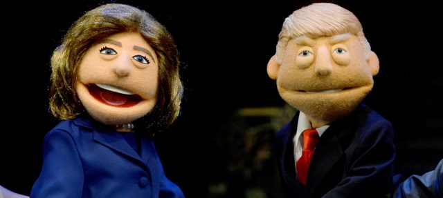 Puppets of Hillary Clinton and Donald Trump