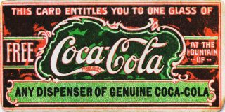 A Coca Cola coupon from the 19th century