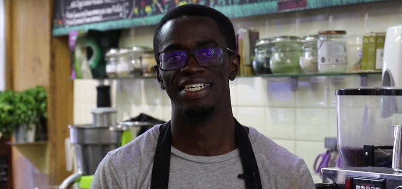 A man working in a restaurant