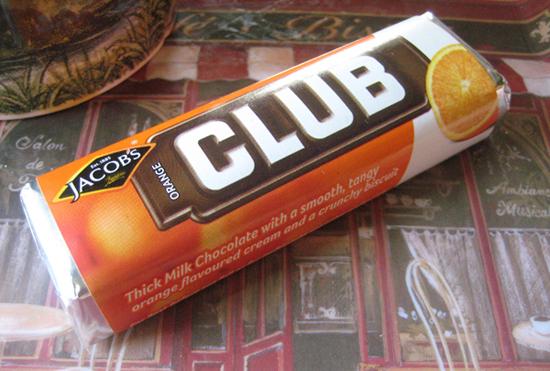 An Orange Club biscuit