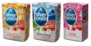 Three packets of Silver Spoon sugar