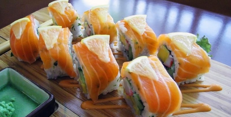 Norwegian Roll Salmon Sushi