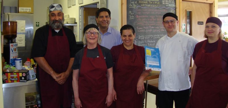 The staff at the Topaz vegetarian restaurant in Manchester