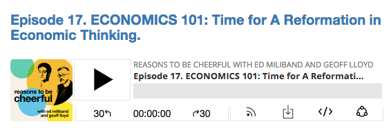 Reasons To Be Cheerful: Economics 101