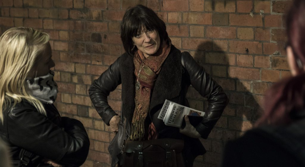 Karen leads a ghost walk in London